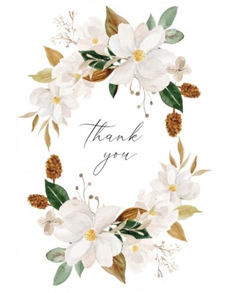 Magnolia Thank You Greeting Card